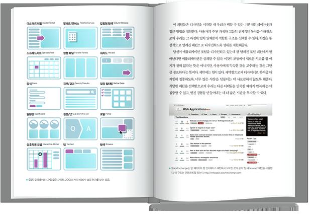스매싱북2 첫번째 펼친 이미지, 웹어플리케이션의 패던에 대한 설명