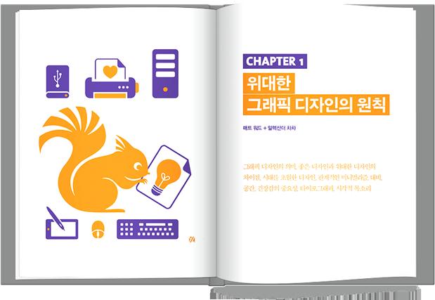 스매싱북 펼친 이미지 두번째, Chapter1 위대한 그래픽 디자인의 원칙